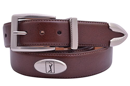 PGA TOUR Leather Concho Golf Belt - Brown
