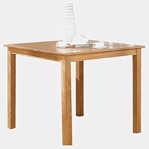 Wood Dining Table - Square Dining Table - Natural Oak 42' Square Glass Top