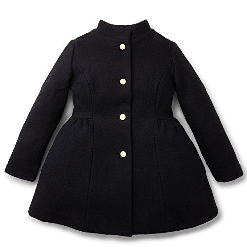 Long Black Dress Coat - 5