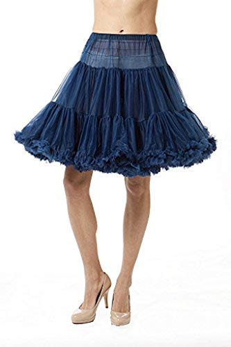 - Malco Modes Chiffon Petticoat Child Tween (Age 7-11) Size in Knee and Tea Lengths (X-Small, Navy Blue 582)