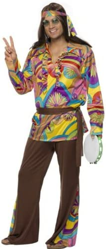 60s 70s Men's Clothing UK | Shirts, Trousers, Shoes Smiffys Psychedelic Hippie Man Costume £20.24 AT vintagedancer.com