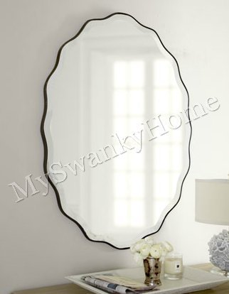 Large Shaped RUFFLED OVAL Mirror product image