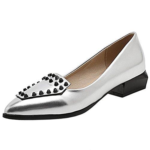 Pumps On Silver Zanpa Slip Flat Women 1 vwSTZEOq