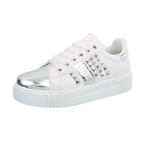 Ital Mode Plat Sneakers Low Baskets Design Espadrilles Chaussures Femme TwfcWq1OPT