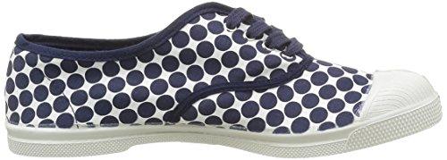 Bensimon Tennis Pois Retro - Zapatillas de deporte Mujer Azul - Bleu(516 Marine)