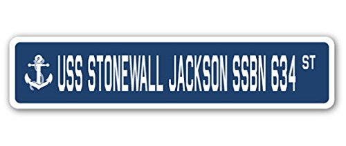 (Cortan360 USS Stonewall Jackson Ssbn 634 Street Sign Decal Sticker US Navy Veteran Military)