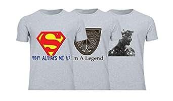 Geek ET1785 Set Of 3 T-Shirt For Men-Grey, 3 Xlarge