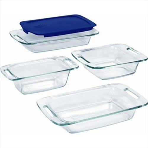 Pyrex Easy Grab 5-Piece Glass Bakeware Set World Kitchen (PA) 1093842