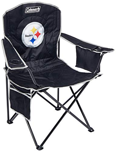 NFL Portable Folding Chair with Cooler and Carrying Case (Renewed) ()