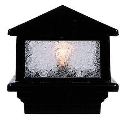 Sirius 12V Deck Light, 5-1/2″ Post, 3 x 1.6W LED, Black For Sale