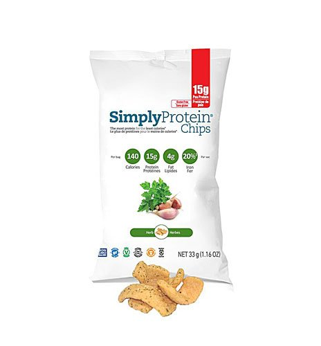 SimplyProtein Chips Herb -- 1.16 oz - 2pc