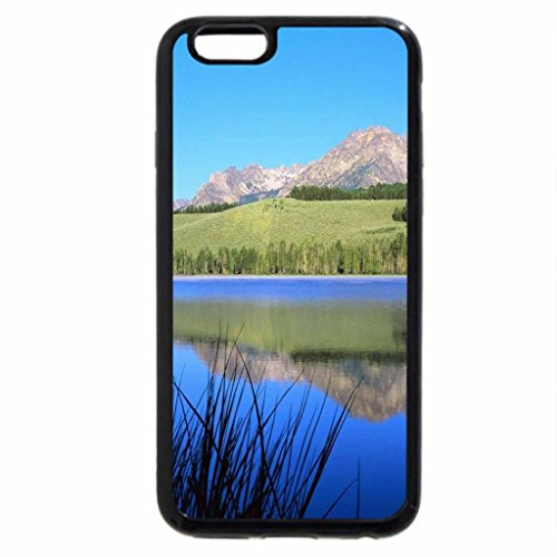 iPhone 6S Case, iPhone 6 Case (Black & White) - Mountain Reflection, Canada