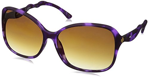 Spy Optic Fiona Wrap Sunglasses, Soft Matte Purple Tort/Happy Bronze Fade, 1.5 - Spy Sunglasses Cheap