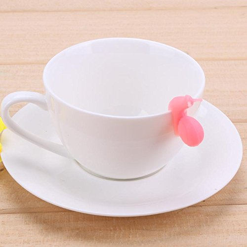 Funnytoday365 6Pcs Silicone Tea Infuser Snail Recognizer Device Tea Bag Hanging Snail Mug Cup Clip Label Party Year Color Random by FunnyToday365 (Image #3)