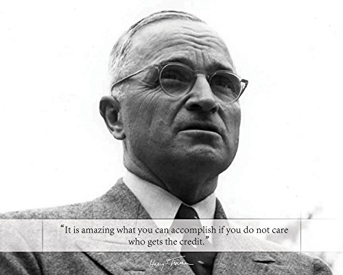 Harry S Truman Poster Photo Picture Framed Quote It is amazing what you can accomplish. US President Portrait Famous Inspirational Motivational Quotes (8x10 Unframed Photo)