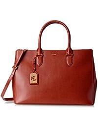LAUREN Ralph Lauren Women\u0027s Newbury Double Zip Satchel Top Handle Handbag