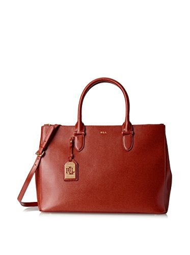 LAUREN Ralph Lauren Women's Newbury Double Zip Satchel Red One Size