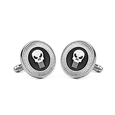 Mrsrui Men Cufflinks Punk Skull Shirt Wedding Business