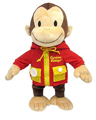 Kids Preferred Curious George Learn to Dress Stuffed Animal, 14