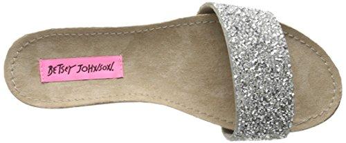 Betsey Johnson Womens Fizzzle Flip Flop Argento