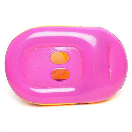 Inflatable Baby Float Seat Boat Beach Car Sun Shade Water Swimming Pool Canopy Purple Yellow