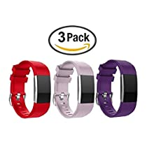 Fitbit Charge 2 Bands, Silicone Bracelet Strap Replacement Band Fitbit Charge 2