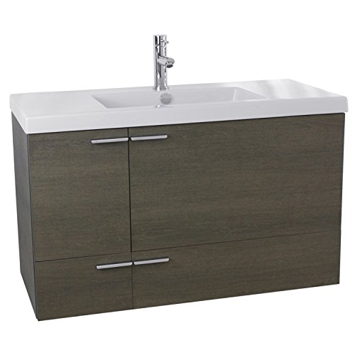 ACF ANS358 New Space Bathroom Vanity with Fitted Ceramic Sink Wall Mounted, 39