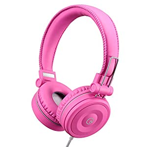 Kids Headphones-noot products K22 Foldable Stereo Tangle-Free 5ft Long Cord 3.5mm Jack Plugin Wired On-Ear Headset for…