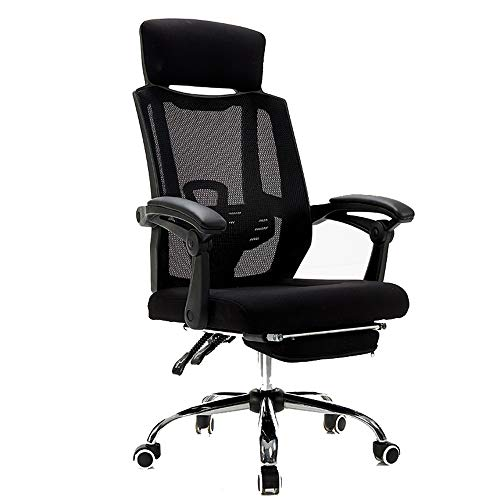 Mesh Breathable Office Chair Tilting Lifting Rotating Headrest Meeting Room Bedroom Lounge Chair,Black Frame