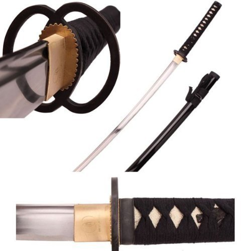 United Sword Display Stand - Ace Martial Arts Supply Full Size Samurai Sword Fully Handmade Razor Sharp Musashi Tsuba Katana-Musha