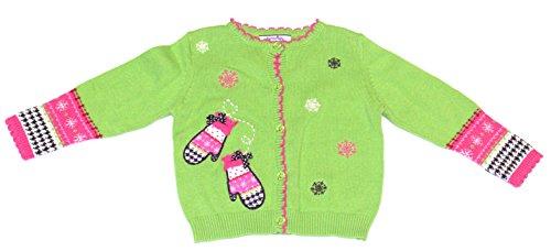 Hartstrings Baby-Girls Applique Mittens Cardigan Sweater, New Holly, 12 (Hartstrings Cardigan Sweater)