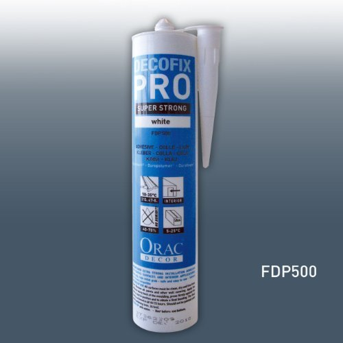 Installation adhesive 310 ml | water-based acrylic glue for mouldings profiles cornices decorations by Orac Decor ()