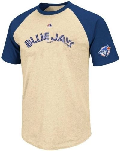Majestic Athletic Toronto Blue Jays Cooperstown All Star Raglan Mens T Shirt Big & Tall Sizes (5XL) ()