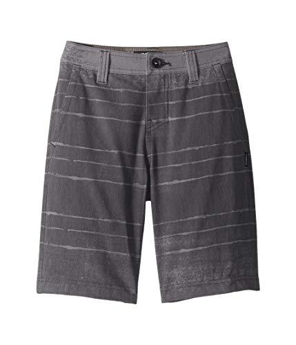 O'Neill Kids Boy's Tye Striper Hybrid Boardshorts (Big Kids) Asphalt 24 (Big Kids)
