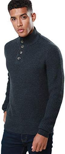 Medium Brown Men/'s Boys 100/% Chenille Zip Up Cardigan Jumper Chunky Knit Warm UK
