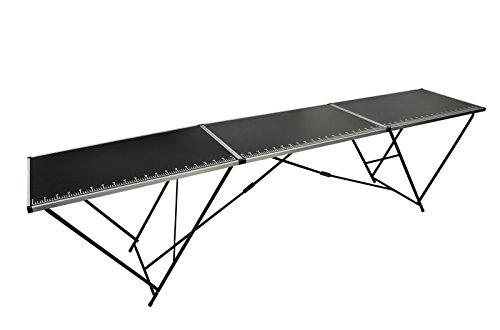 Tapeziertisch Malertisch Arbeitstisch 3 tlg. Klapptisch 300x60x78cm Alu & Stahl