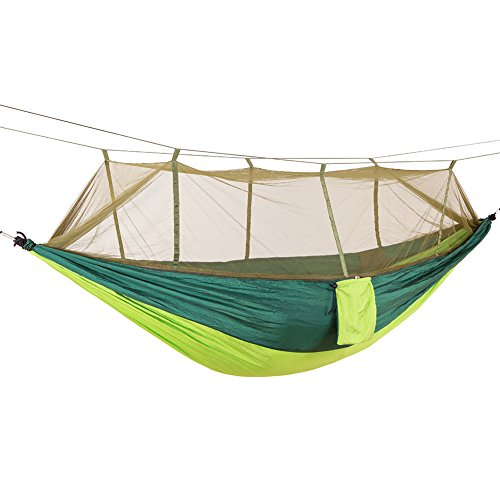 Multifunctional Hammock with Net,Ultra Light and Durable Outdoor Travel Hammock Bed - 10