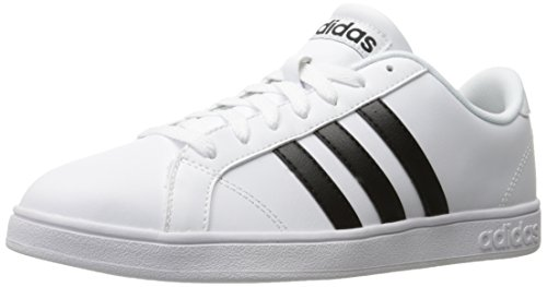 adidas NEO Men's Baseline Fashion Sneaker, White/Black/White, 10.5 M US - Adidas Casual Shoes
