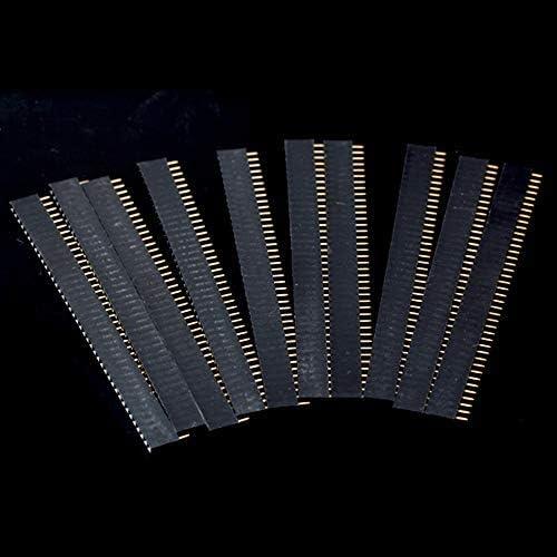 BODYA 20pcs単一列40P 40ピン2.54mm女性ヘッダーコネクターソケット 単一列端子ピン ヘッダーストリップ PBC Ardunioに対応 DIYセット