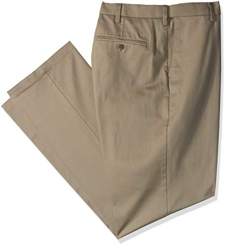 Khakis Cotton Stretch (Dockers Men's Big and Tall Classic Fit Signature Khaki Lux Cotton Stretch Pants, Timber Wolf, 46 30)
