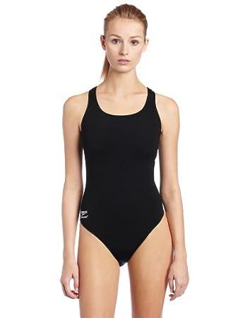 b185d2cc53e09 Amazon.com   Speedo Female One Piece Swimsuit - Endurance+ Solid Super Pro    Athletic One Piece Swimsuits   Clothing