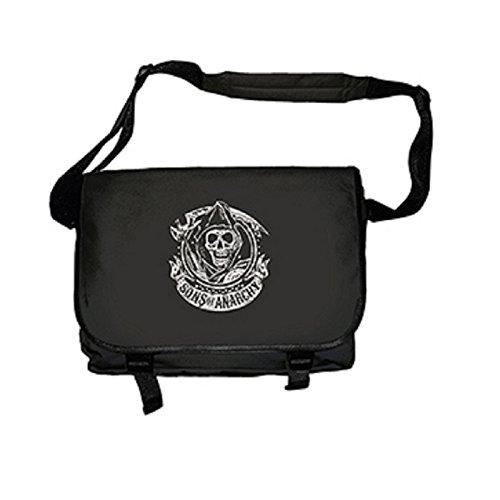 Sons Of Anarchy Messenger Bag Samcro Reaper Logo Official Black