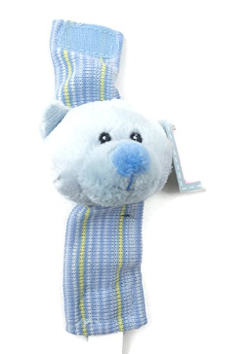 (Russ Baby Blue Bear Wrist Rattle)