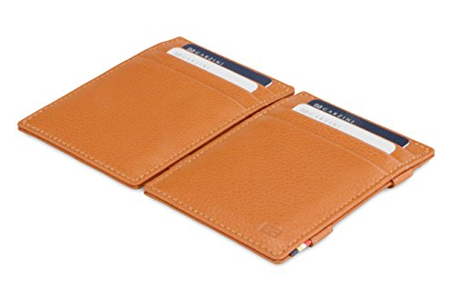 Brown Garzini Nappa Essenziale Leather Wallet Garzini Magic Cognac RFID Magic P0zU5