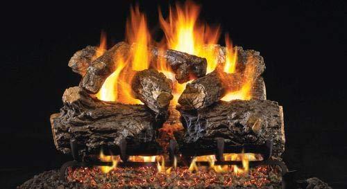 Standard Burnt Rustic Oak Gas Logs- 24 -