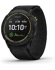 Garmin Enduro, Ultraperformance Reloj GPS multideportivo, Carga Solar, duración de la batería hasta 80 Horas en Modo GPS, Titanio DLC Gris Carbono con Correa de Nailon Negro UltraFit