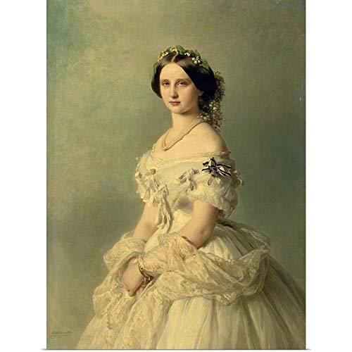 GREATBIGCANVAS Poster Print Entitled Portrait of Princess of Baden, 1856 by Franz Xaver Winterhalter 30