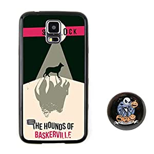 Euclid+ -The Hounds Of Baskerville Sherlock Holmes Embossed Design Style Plastic+TPU Case Cover for Samsung Galaxy S5 with The Nightmare Before Christmas Style 2.3