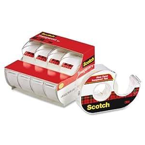 Scotch Transparent Tape, 3/4 in x 850 Inches, 4 Rolls (4814)