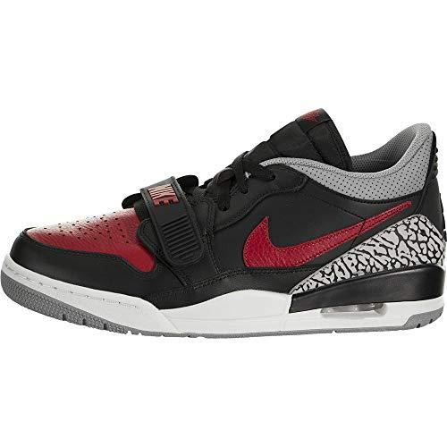 Nike Mens Air Jordan Legacy 312 Low Black/Varsity Red Leather